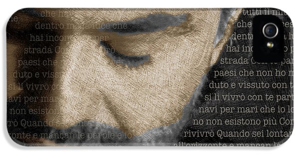 Tony Soprano iPhone 5 Cases - Andrea Bocelli And Lyrics Square iPhone 5 Case by Tony Rubino