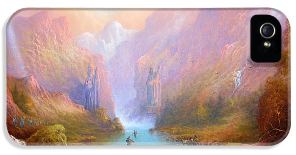 Book iPhone 5 Cases - Anduin The Great River iPhone 5 Case by Joe  Gilronan