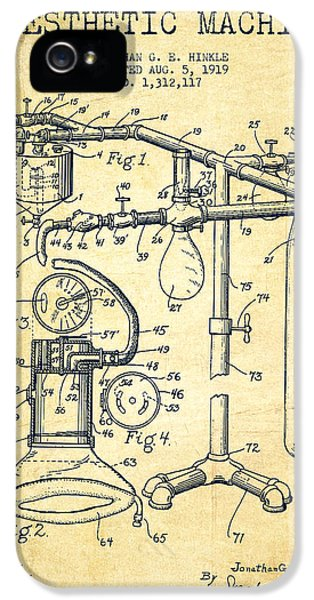 Hospital iPhone 5 Cases - Anesthetic Machine patent from 1919 -Vintage iPhone 5 Case by Aged Pixel