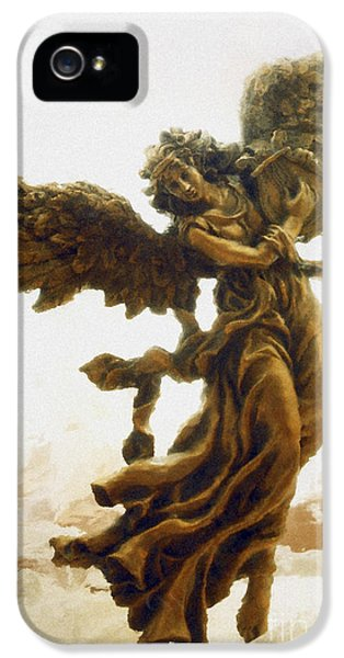 Bronze iPhone 5 Cases - Angel Art - Impressionistic Dreamy Surreal Angel Art  iPhone 5 Case by Kathy Fornal