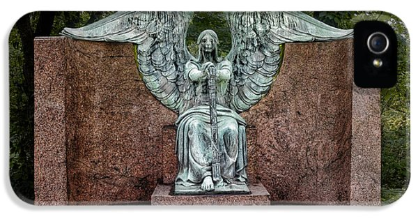 Archangel iPhone 5 Cases - Angel of Death Lake View Cemetery iPhone 5 Case by Tom Mc Nemar