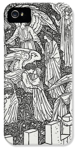 Arts And Crafts Movement iPhone 5 Cases - Angels behind the inner sanctuary iPhone 5 Case by William Morris