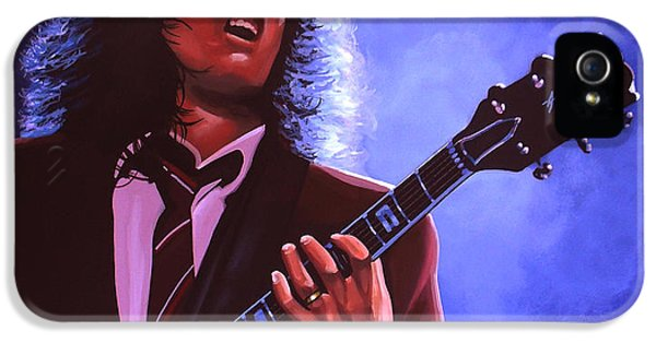 Festival iPhone 5 Cases - Angus Young of AC / DC iPhone 5 Case by Paul Meijering