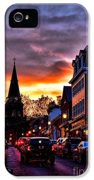 Main Street iPhone 5 Cases - Annapolis Night iPhone 5 Case by Olivier Le Queinec