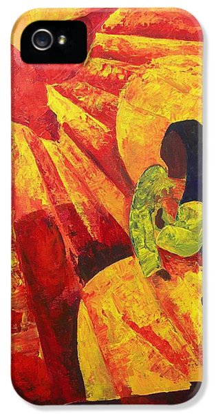 Holy Spirit iPhone 5 Cases - Annunciation iPhone 5 Case by Patricia Brintle