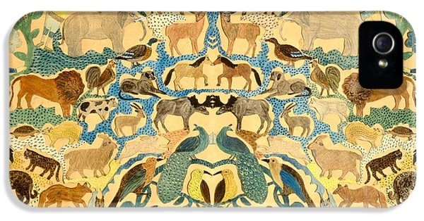 Antique Cutout Of Animals  IPhone 5 / 5s Case by American School