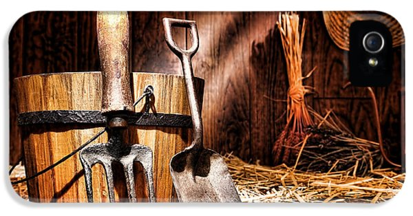 Shed iPhone 5 Cases - Antique Gardening Tools iPhone 5 Case by Olivier Le Queinec