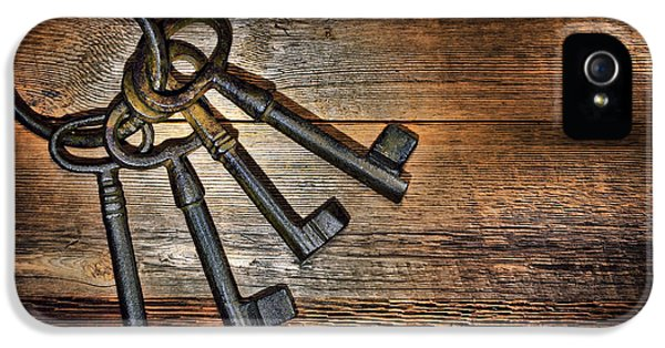 Corroded iPhone 5 Cases - Antique Keys iPhone 5 Case by Olivier Le Queinec