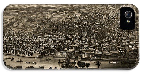 State Bird iPhone 5 Cases - Antique Map of Albany New York by H.H. Rowley and Co. - 1879 iPhone 5 Case by Blue Monocle