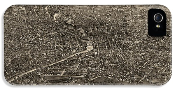 State Bird iPhone 5 Cases - Antique Map of Rochester New York by H.H. Rowley and Co. - 1880 iPhone 5 Case by Blue Monocle