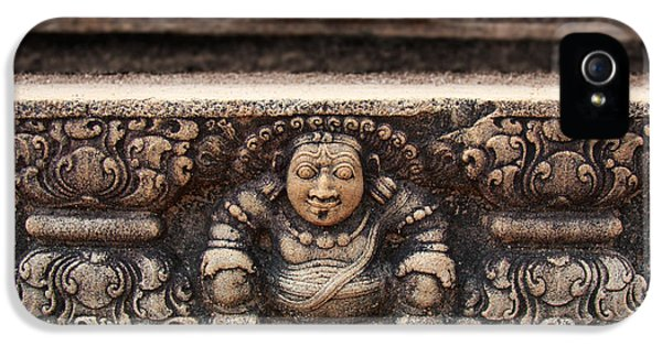 Archeology iPhone 5 Cases - Anuradhapura carving iPhone 5 Case by Jane Rix