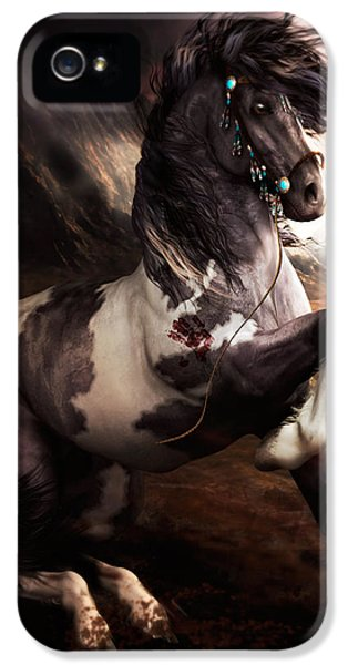 Equine iPhone 5 Cases - Apache Blue iPhone 5 Case by Shanina Conway