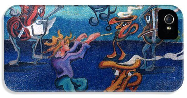 Conducting iPhone 5 Cases - Apollinaires First Symphony With Musical Instruments iPhone 5 Case by Genevieve Esson