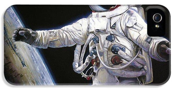 Apollo Print iPhone 5 Cases - Apollo 9 - Schweickart on the Porch iPhone 5 Case by Simon Kregar