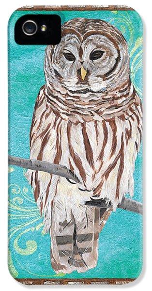 Key iPhone 5 Cases - Aqua Barred Owl iPhone 5 Case by Debbie DeWitt
