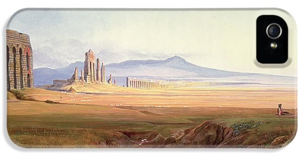 Ruins iPhone 5 Cases - Aqueduct Of Nero, Rome iPhone 5 Case by Edward Lear