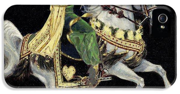 Arabian iPhone 5 Cases - Arabian Costume Horse iPhone 5 Case by Don  Langeneckert