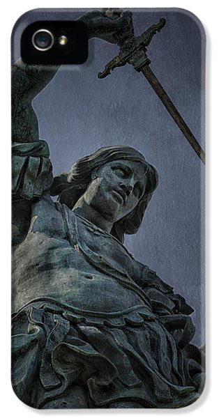 Archangel iPhone 5 Cases - Archangel Michael iPhone 5 Case by Erik Brede