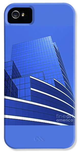 Office iPhone 5 Cases - Architectural Blues iPhone 5 Case by Ann Horn