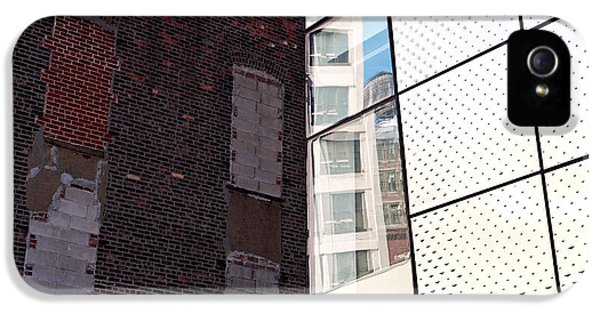 Steel iPhone 5 Cases - Architectural Juxtaposition on the High Line iPhone 5 Case by Rona Black