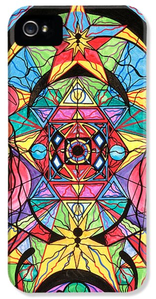 Image iPhone 5 Cases - Arcturian Ascension Grid iPhone 5 Case by Teal Eye  Print Store