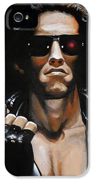 Arnold Schwarzenegger - Terminator IPhone 5 / 5s Case by Tom Carlton