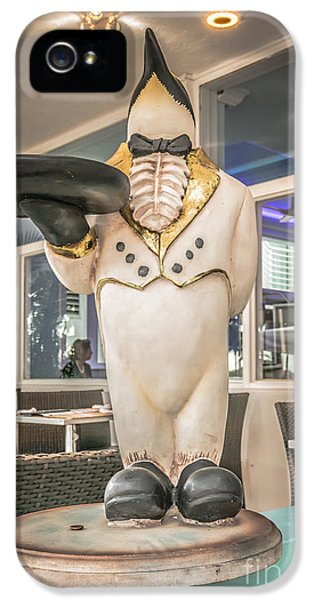Art Deco Penguin Waiter South Beach Miami - Hdr Style IPhone 5 / 5s Case by Ian Monk