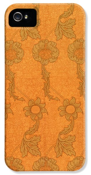 Arts And Crafts Movement iPhone 5 Cases - Arts and Crafts design iPhone 5 Case by William Morris