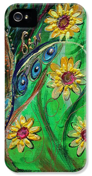 Modern Jewish iPhone 5 Cases - Artwork Fragment 61 iPhone 5 Case by Elena Kotliarker