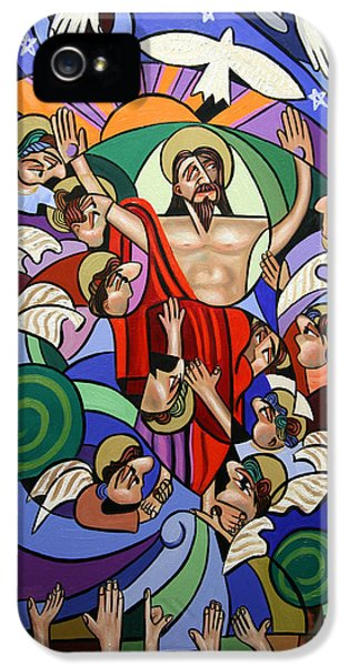 Holy Spirit iPhone 5 Cases - Ascending To The Father  iPhone 5 Case by Anthony Falbo