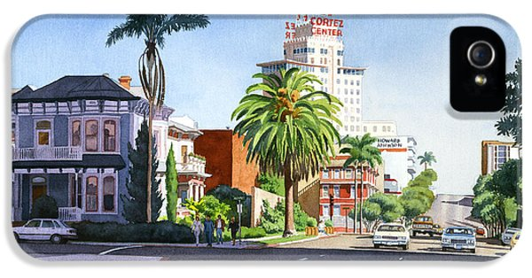 City Scene iPhone 5 Cases - Ash and Second Avenue in San Diego iPhone 5 Case by Mary Helmreich