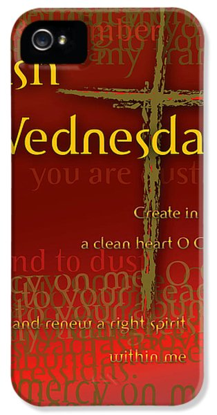 Wednesday iPhone 5 Cases - Ash Wednesday iPhone 5 Case by Chuck Mountain