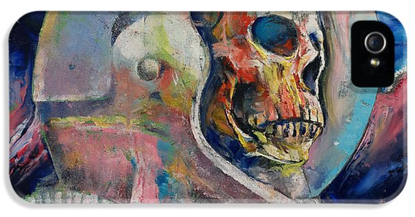 Spooky iPhone 5 Cases - Astronaut iPhone 5 Case by Michael Creese