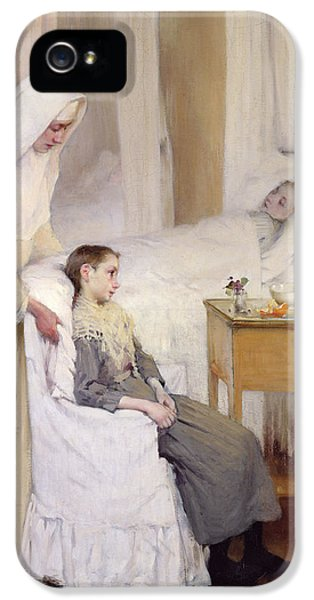 Ill iPhone 5 Cases - At Notre-Dame du Perpetuel Bon Secours Hospital iPhone 5 Case by Henri Jules Jean Geoffroy