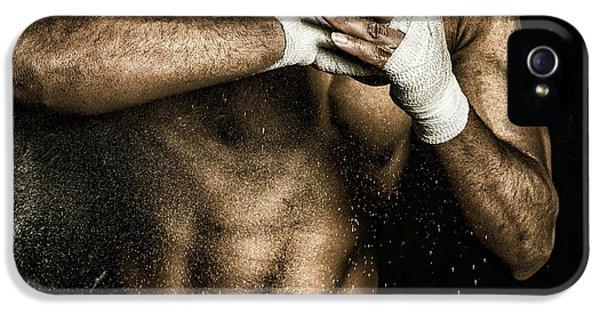 Bio-mechanical iPhone 5 Cases - Athlete Power iPhone 5 Case by Pedro Correa