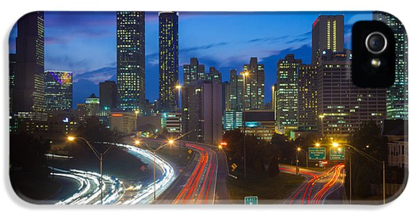 North America iPhone 5 Cases - Atlanta downtown by night iPhone 5 Case by Inge Johnsson