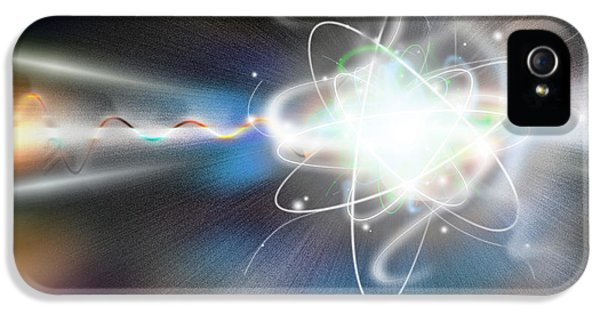 Components iPhone 5 Cases - Atom Collision iPhone 5 Case by Mike Agliolo