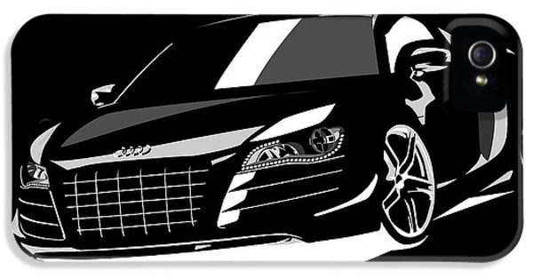 Automobile iPhone 5 Cases - Audi R8 iPhone 5 Case by Michael Tompsett