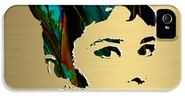 Audrey Hepburn Gold Series IPhone 5 / 5s Case by Marvin Blaine