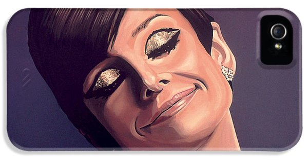 Glamour iPhone 5 Cases - Audrey Hepburn iPhone 5 Case by Paul  Meijering