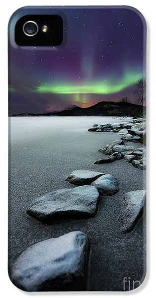 Image iPhone 5 Cases - Aurora Borealis Over Sandvannet Lake iPhone 5 Case by Arild Heitmann