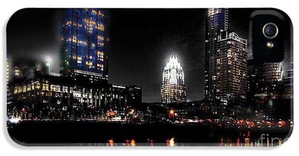 Austin Night Skyline Reflections  IPhone 5 / 5s Case by Gary Gibich