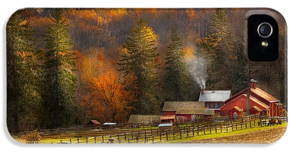 Autumn - Barn - The End Of A Season IPhone 5 / 5s Case by Mike Savad