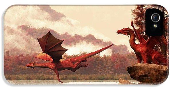 Autumn Dragons IPhone 5 / 5s Case by Daniel Eskridge