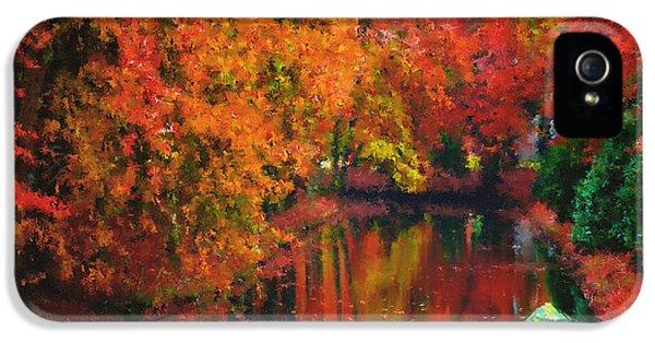 Environment Concept Art iPhone 5 Cases - Autumn Fantasy iPhone 5 Case by Georgiana Romanovna