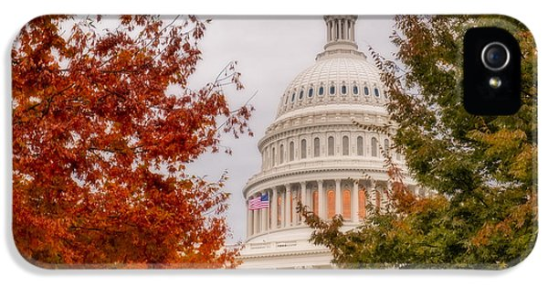 House Of Representatives iPhone 5 Cases - Autumn In The US Capitol iPhone 5 Case by Susan Candelario