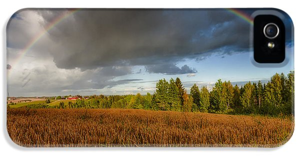 Agriculture iPhone 5 Cases - Autumn Rainbow iPhone 5 Case by Erik Brede