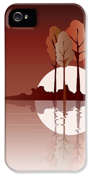 Environment Design iPhone 5 Cases - Autumn reflected iPhone 5 Case by Jane Rix