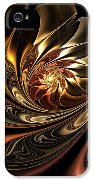 Asymmetrical iPhone 5 Cases - Autumn Reverie Abstract iPhone 5 Case by Georgiana Romanovna