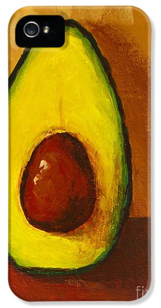 Decorative Art iPhone 5 Cases - Avocado Palta VII iPhone 5 Case by Patricia Awapara